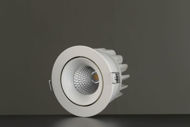 Vackerlite Lins Tilted Downlight Spot White Sideview