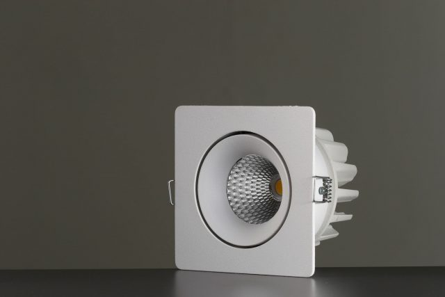 Vackerlite Parla Fixed Downlight Spot White Sideview