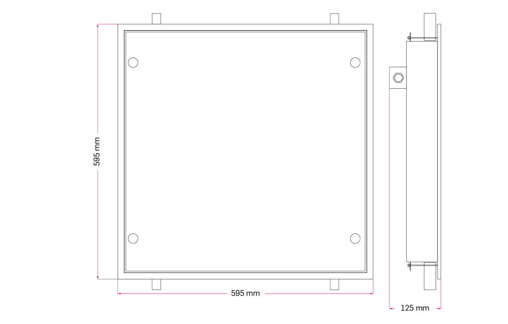 Technical Drawing for Ankaret IP Clean Room Panel