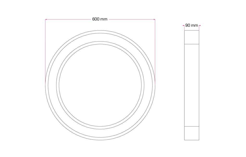 Technical Drawing for Dropsten Ring Pendant