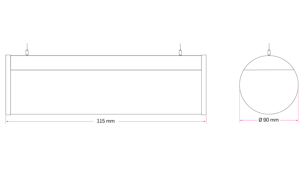 Technical Drawing for Plats Cylinder Linear Etange