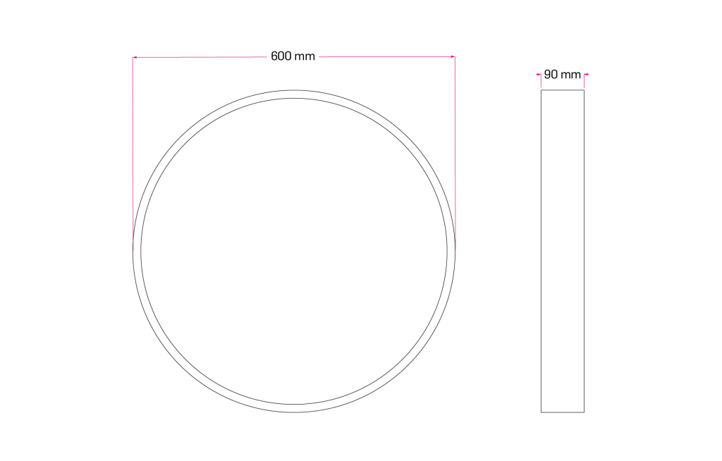 Technical Drawing for Runda Circle Pendant