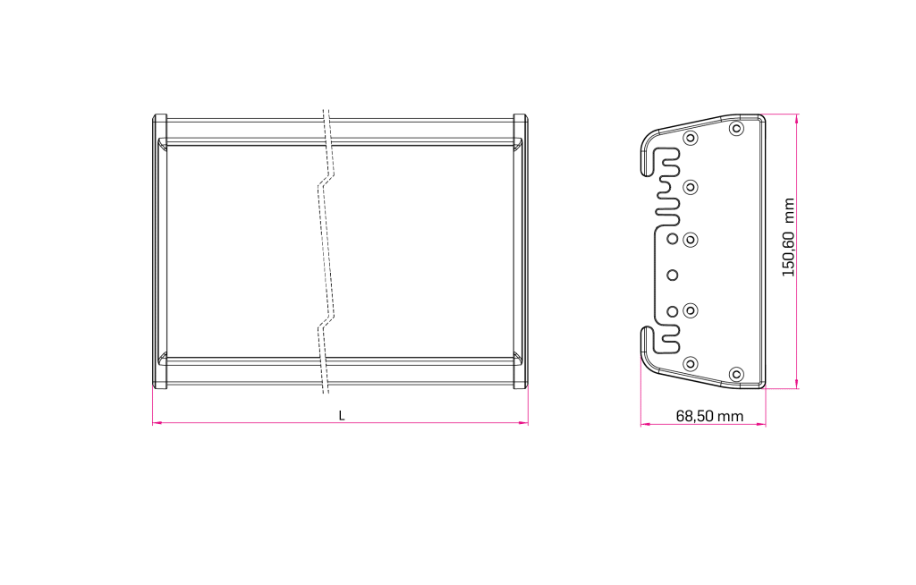 Technical Drawing for Stark High/Low Bay Luminaires